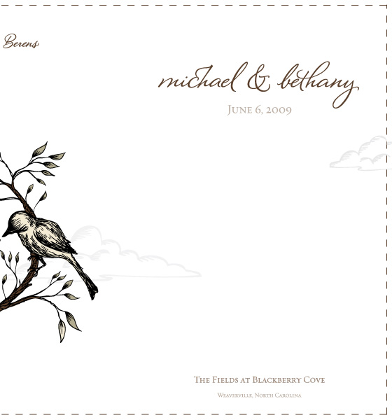 The Berens Wedding Program Front