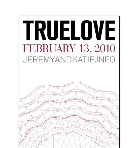 Truelove Wedding Invitation Back