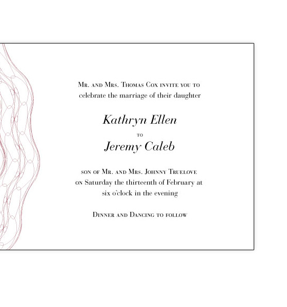Truelove Wedding Invitation Front