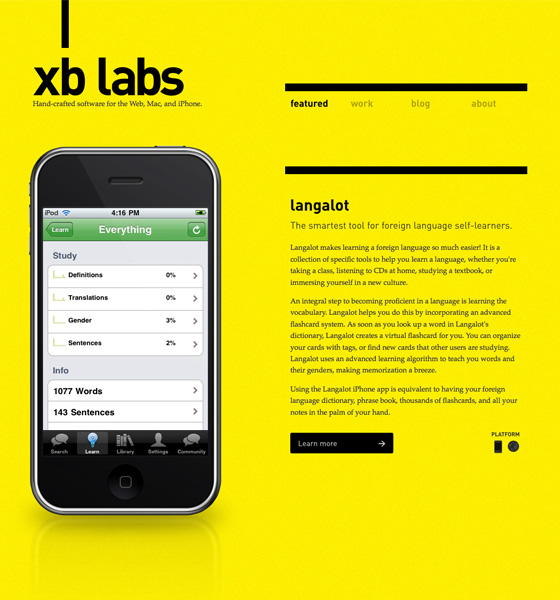 XB Labs Web Site